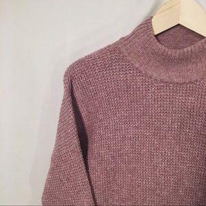 Mock Turtle Neck Mauve Sweater